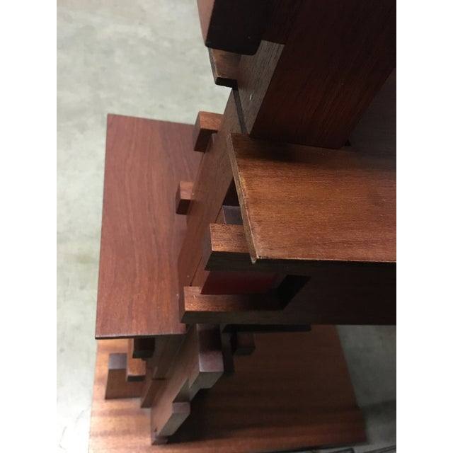 Frank Lloyd Wright Style Floor Lamp For Sale - Image 4 of 9