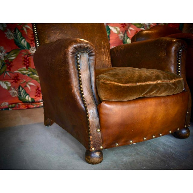 This is an antique club chair from the 1930's. I purchased the chair in New York about 15 years ago. I'm selling for $3500...