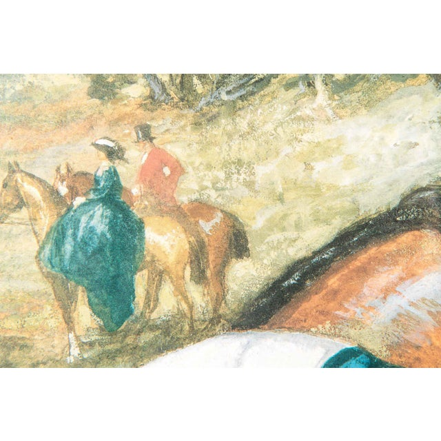 Early 20th Century French Print Lithograph With Painted Wood Frame For Sale In New York - Image 6 of 12
