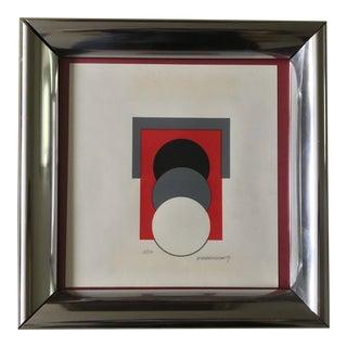 1960s Vintage Monokokolokis Op Art Serigraph Print For Sale