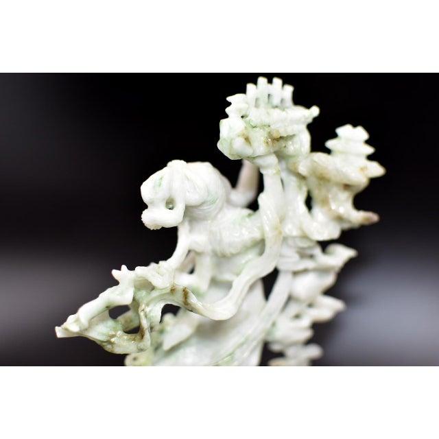 Exquisite Jadeite Jade Fairy Statue For Sale - Image 11 of 13