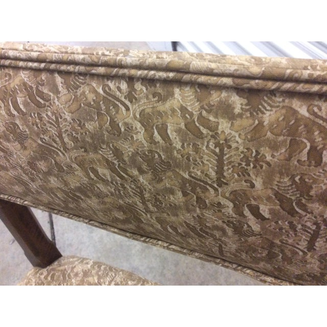 Antique Fortuny Fabric Hall Chairs - a Pair For Sale - Image 11 of 11