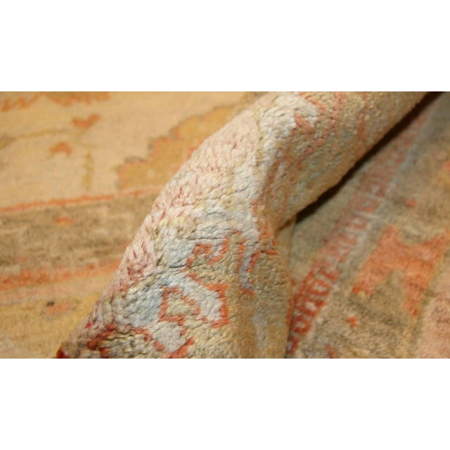 Antique Turkish Oushak Rug - 13′3″ × 15′9″ For Sale In New York - Image 6 of 8