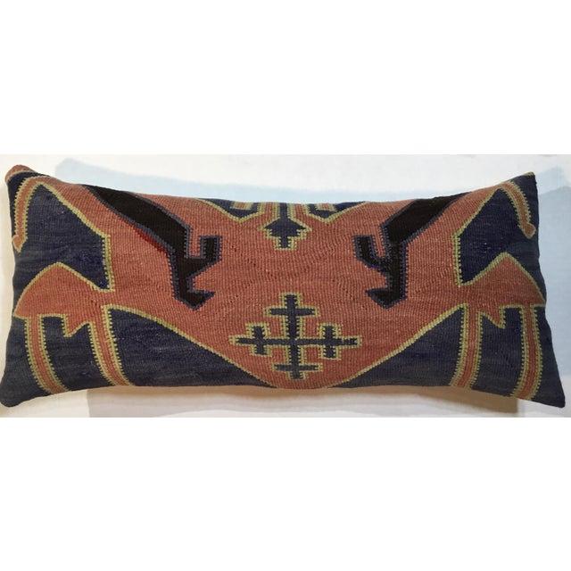 1960s Mediterranean Kazak Cotton Pillows - a Pair For Sale In Miami - Image 6 of 13