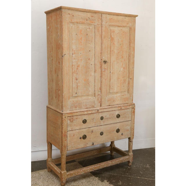 Swedish Pine Tall Cabinet For Sale - Image 10 of 11