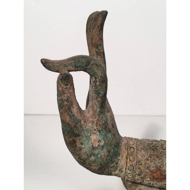 Bronze Buddha Hand in Wisdom Gesture - Image 8 of 9