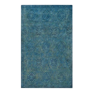 Blue Green Wool Hand Tufted Rug