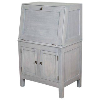 Blue Gray Stained Drop-Front Desk