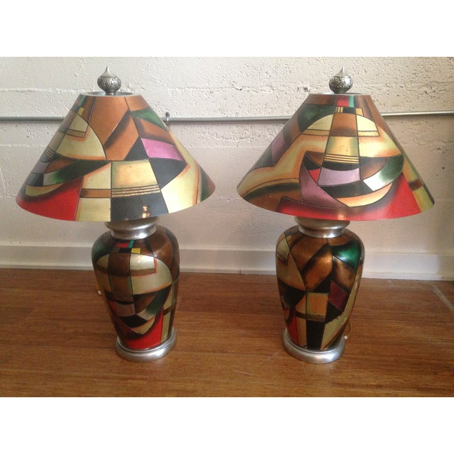 C. 1960 Kalifano Art Pottery Lamps - A Pair - Image 2 of 7