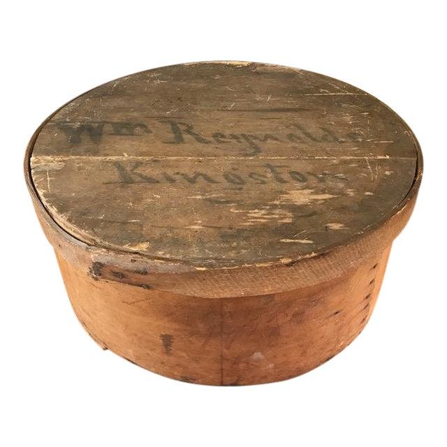 Large Antique Wood Box - Historic Kingston Ny For Sale
