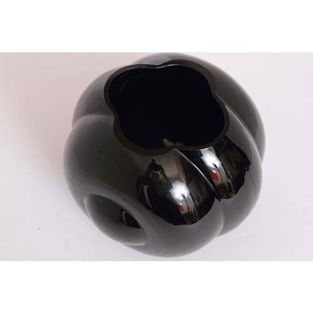 Black George Sakier Fostoria Modernist Fishbowl Vase For Sale - Image 8 of 11
