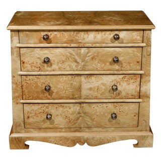Paul Marra European Style Chest in Mappa Veneer For Sale
