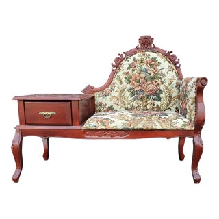 Victorian Style Gossip Telephone Bench For Sale