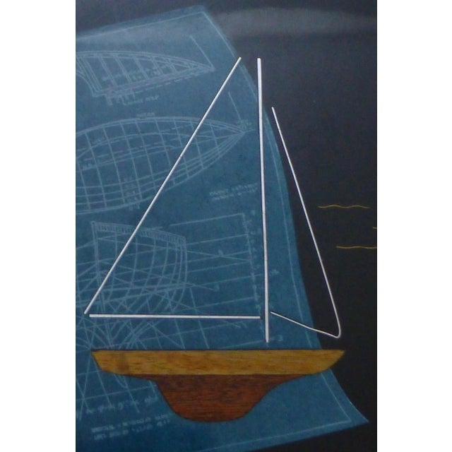 Mid-Century Couroc Sailboat Serving Tray - Image 3 of 10