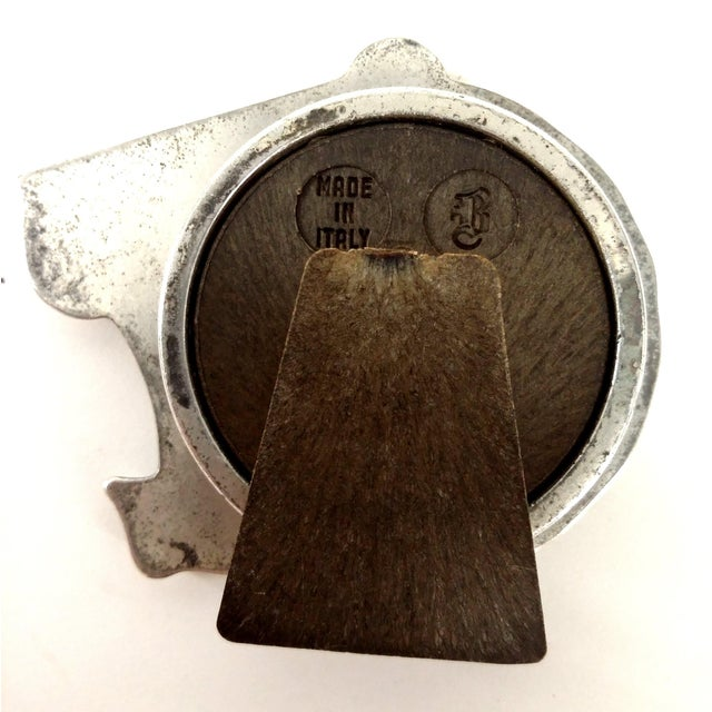 Vintage MCM Pewter Mini Lion Head Frame - Image 6 of 8