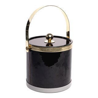 Vintage Towle Brass and Resin Ice Bucket For Sale