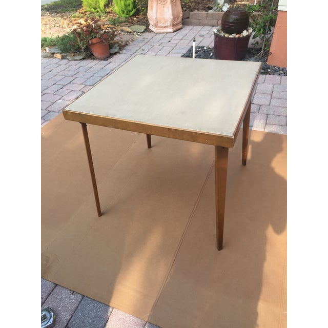 Wood Mid -Century Modern Stakmore Folding Bentwood Table & Chairs- Set of 5 For Sale - Image 7 of 13