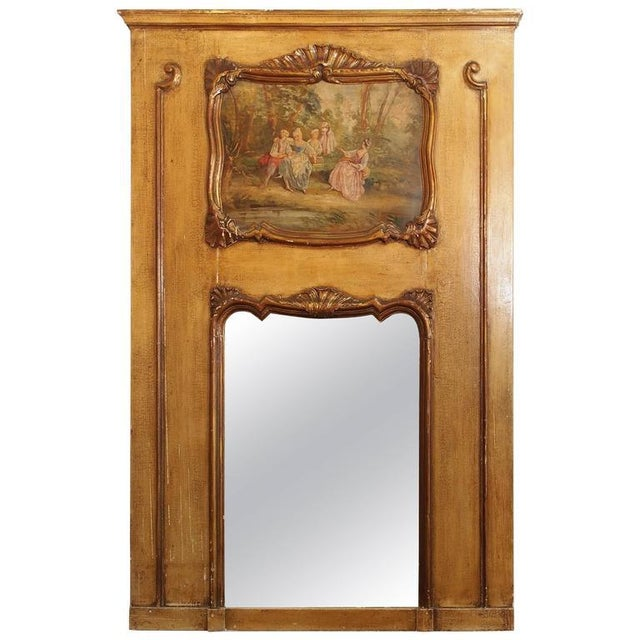 Antique French Painted Trumeau - Image 6 of 6