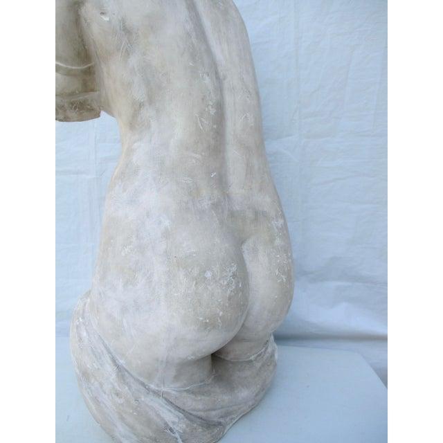 Plaster Antique Plaster Cast of Greek Goddess Torso For Sale - Image 7 of 11