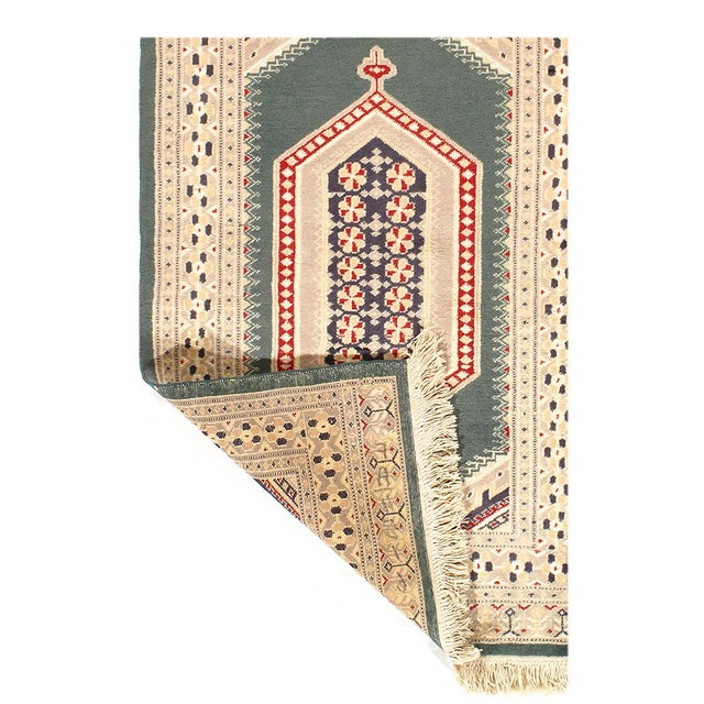 Fine Pakistan BOKHARA handmade /hand-knotted rug. Vegetable-dyed with all-natural dyes. Lamb's wool on a cotton...