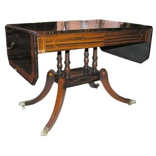 Regency Calamander Satinwood Inlaid Sofa Table, Circa 1810 For Sale