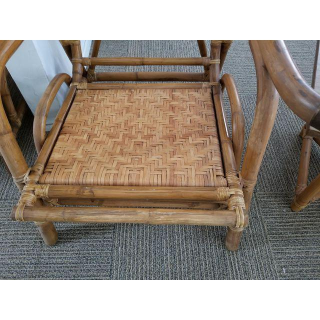 Ficks & Reed Style Rattan Bamboo Sofa Chair Table Patio Set- 5 Piece Last  Call