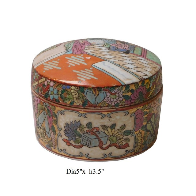 Oriental Porcelain Scenery Box - Image 6 of 6