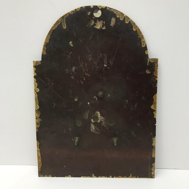 Antique English Hand Painted Clock Face, C.1890 - Image 6 of 6