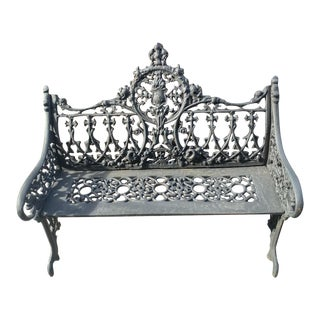 French Cast Iron Garden Bench For Sale