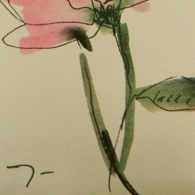 Jose Trujillo Original Watercolor Floral Painting For Sale - Image 4 of 4