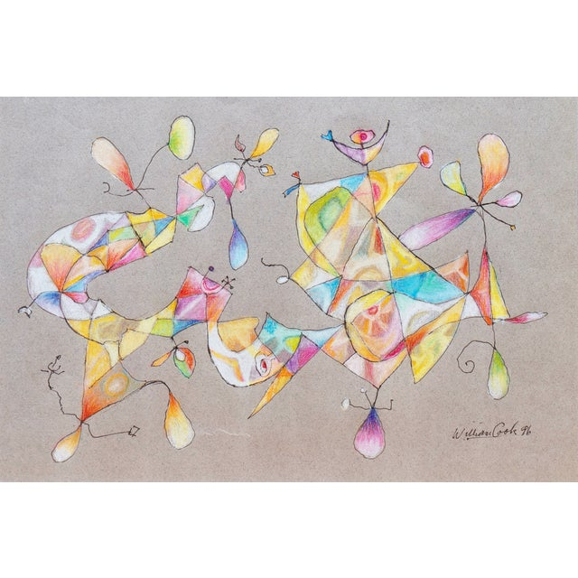 William Cook Biomorphic Abstract Drawing, 1996 For Sale