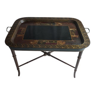 Victorian Paper Mache Tray on Stand