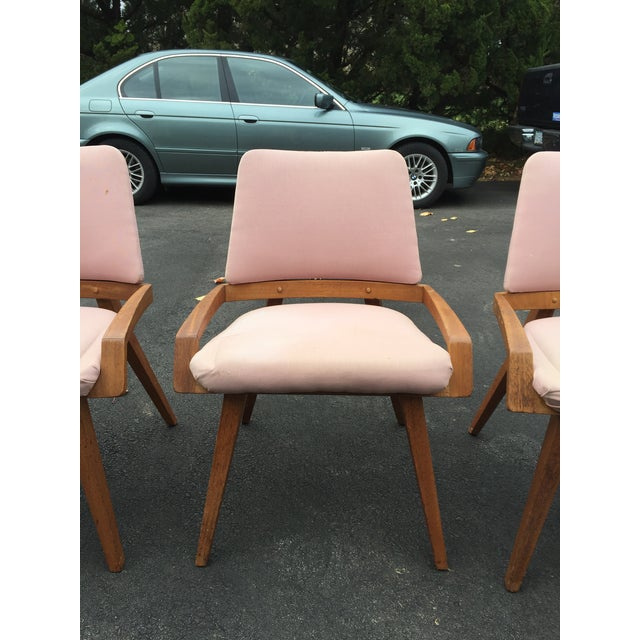 John Keal John Keal by Brown Saltzman Dining Room Chairs - Set of 4 For Sale - Image 4 of 9