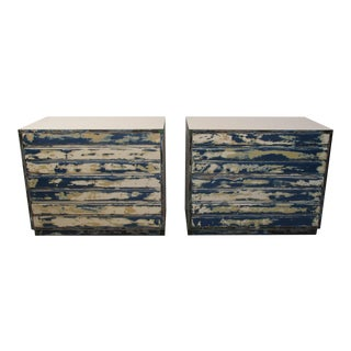 Vintage Modernist Bachelors Chests by Sligh Furniture-a Pair For Sale
