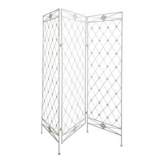 Vintage 3 Panel Folding Screen / Room Divider After Jean Royere For Sale