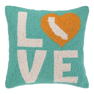 """Cali Love Hook Pillow, 18"""" x 18"""" For Sale"""