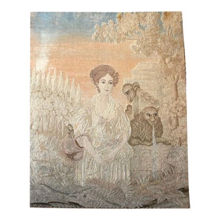 Antique Pictorial French Tapestry For Sale