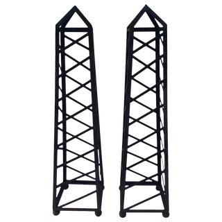 Vintage 6 Ft High Garden Obelisks - a Pair For Sale