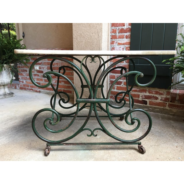 19th Century French Marble Pastry Baker's Table Art Nouveau Green Pâtisserie For Sale - Image 13 of 13