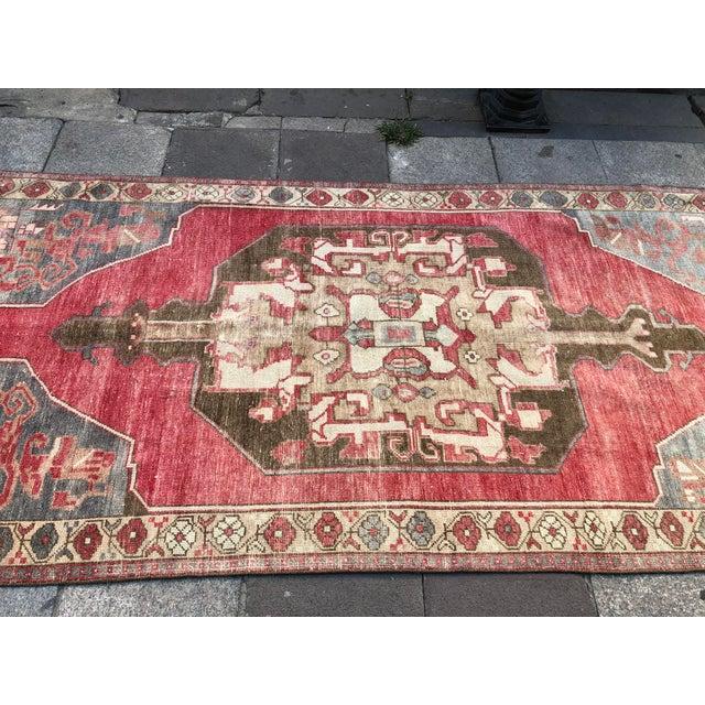 Tribal Turkish Carpet For Sale - Image 10 of 11