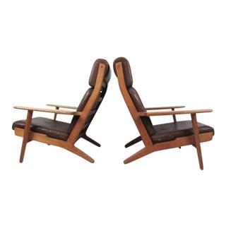 Pair GE-290 High Back Armchairs by Hans Wegner for GETAMA