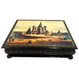 Image of St. Basil's Cathedral on Russian Lacquer Box For Sale