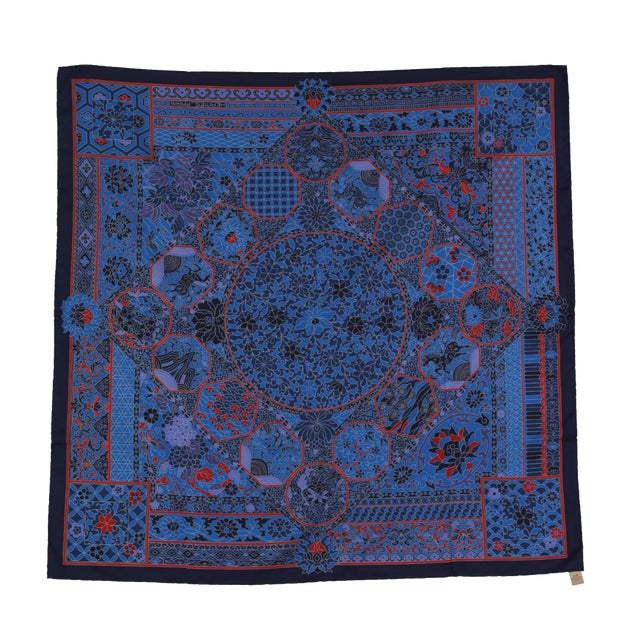 2faac8758d75 Fabulous Hermes Silk Scarf From Collections Imperiale  New in Box For Sale
