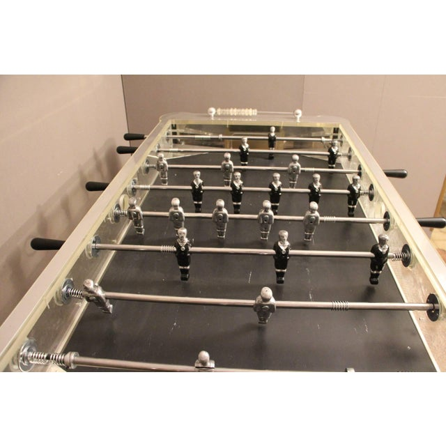 1970s 1970s Lucite and Mirror Polished Aluminum Foosball Table For Sale - Image 5 of 12