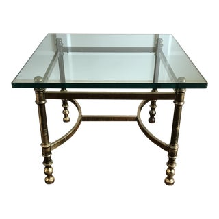 Mid Century Brass and Glass Coffee Table by LaBarge For Sale