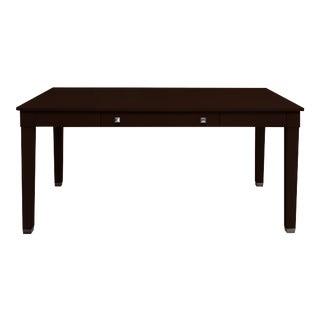 Boho Chic Kindel Furniture Writing Desk From Garden Street in Dark Stain For Sale