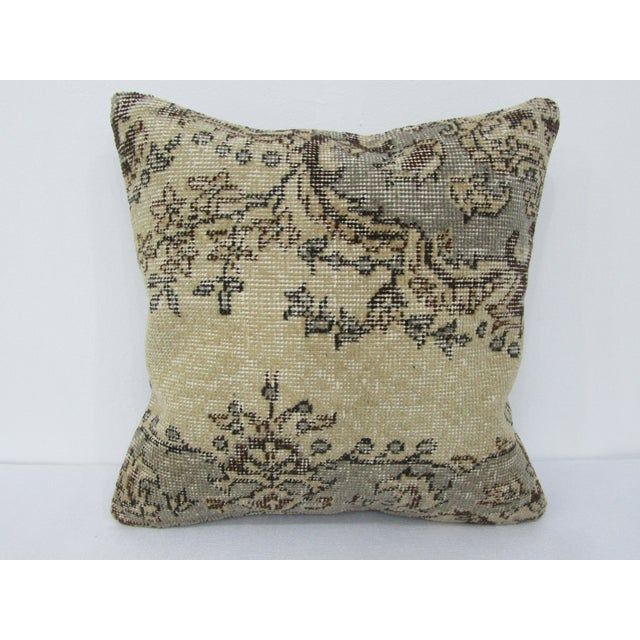 Turkish Decorative Vintage Cushion Cover For Sale - Image 4 of 4