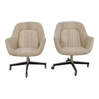 Knoll Upholstered Office Chairs on Casters - A Pair