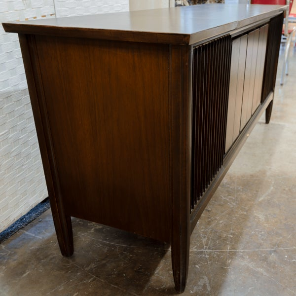 Vintage Mid Century Modern Mahogany Claritone Stereo Cabinet For Sale