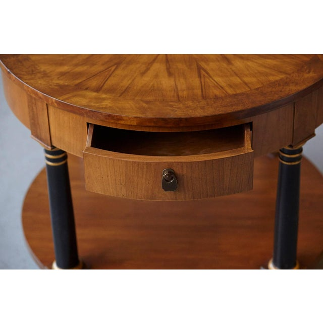 1970s Empire Style Walnut Side Table by Baker Furniture For Sale - Image 5 of 11